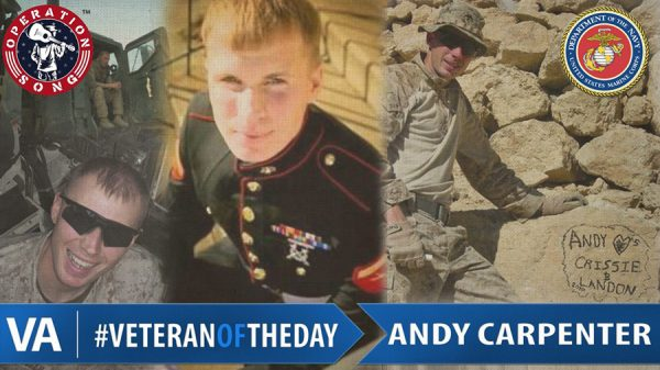 veteran of the day Andy Carpenter.